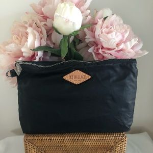 New MZ Wallace Black Make up Pouch cosmetic case